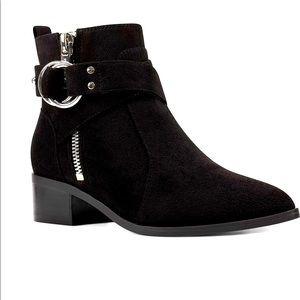NWOT Nine West Suede Ankle Boots Sz 8.5 Black